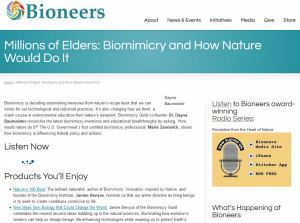 Millions of Elders: Biomimicry and How Nature Would Do It