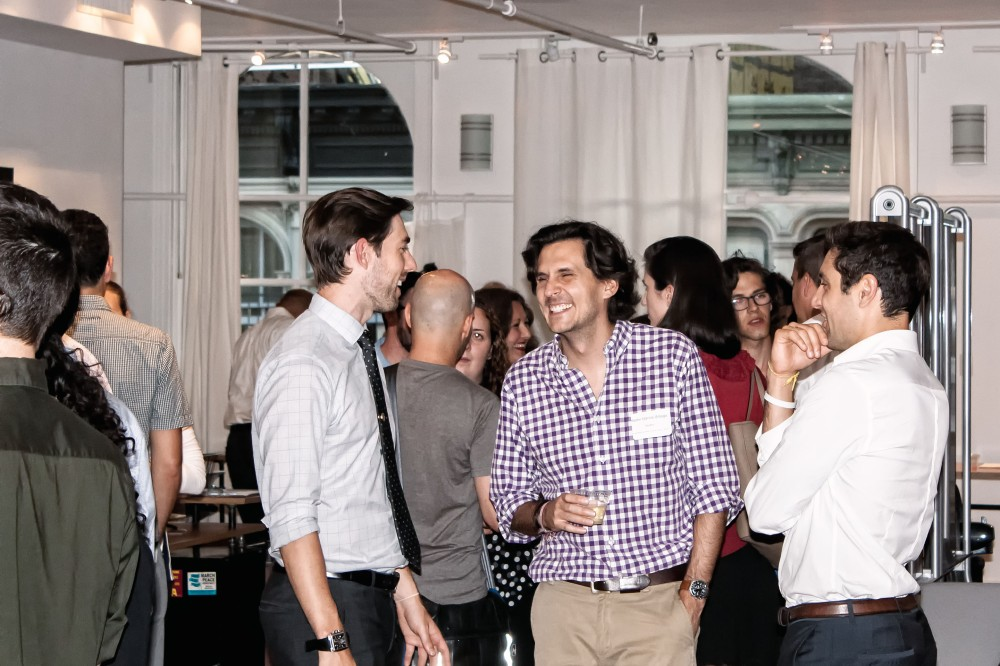 Attendees mingle at our BioBeers network event